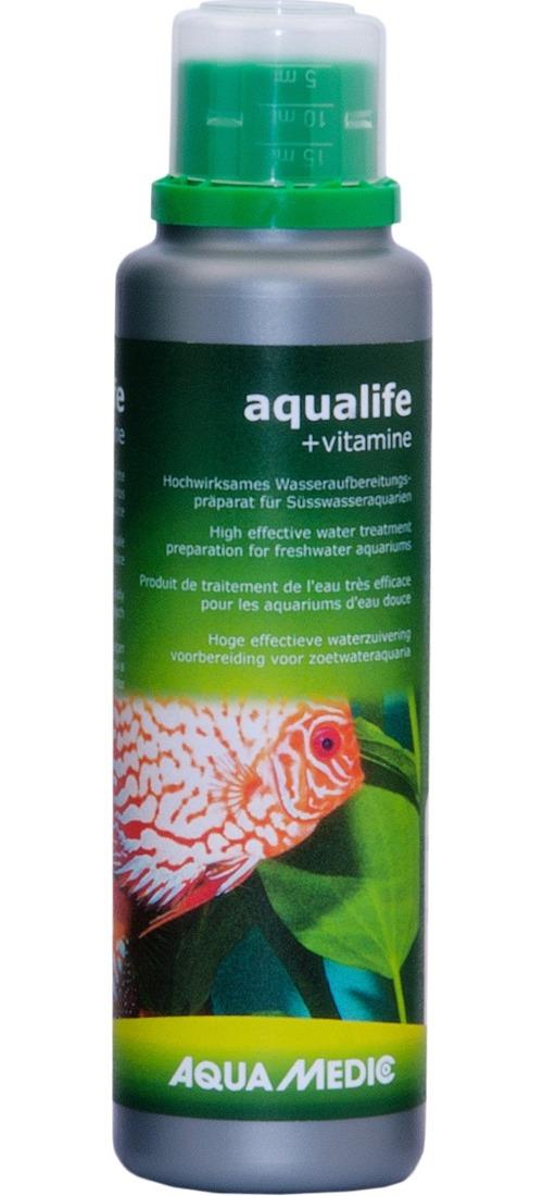 AQUA MEDIC aqualife + Vitamine 250 ml conditionneur d\'eau du robinet avec vitamines pour aquarium d\'eau douce