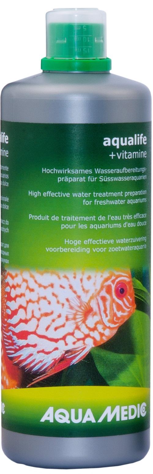 AQUA MEDIC aqualife + Vitamine 1 L conditionneur d\'eau du robinet avec vitamines pour aquarium d\'eau douce