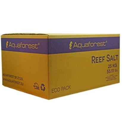 AQUAFOREST Reef Salt Box 25 Kg sel synthétique pour la croissance et la coloration des coraux