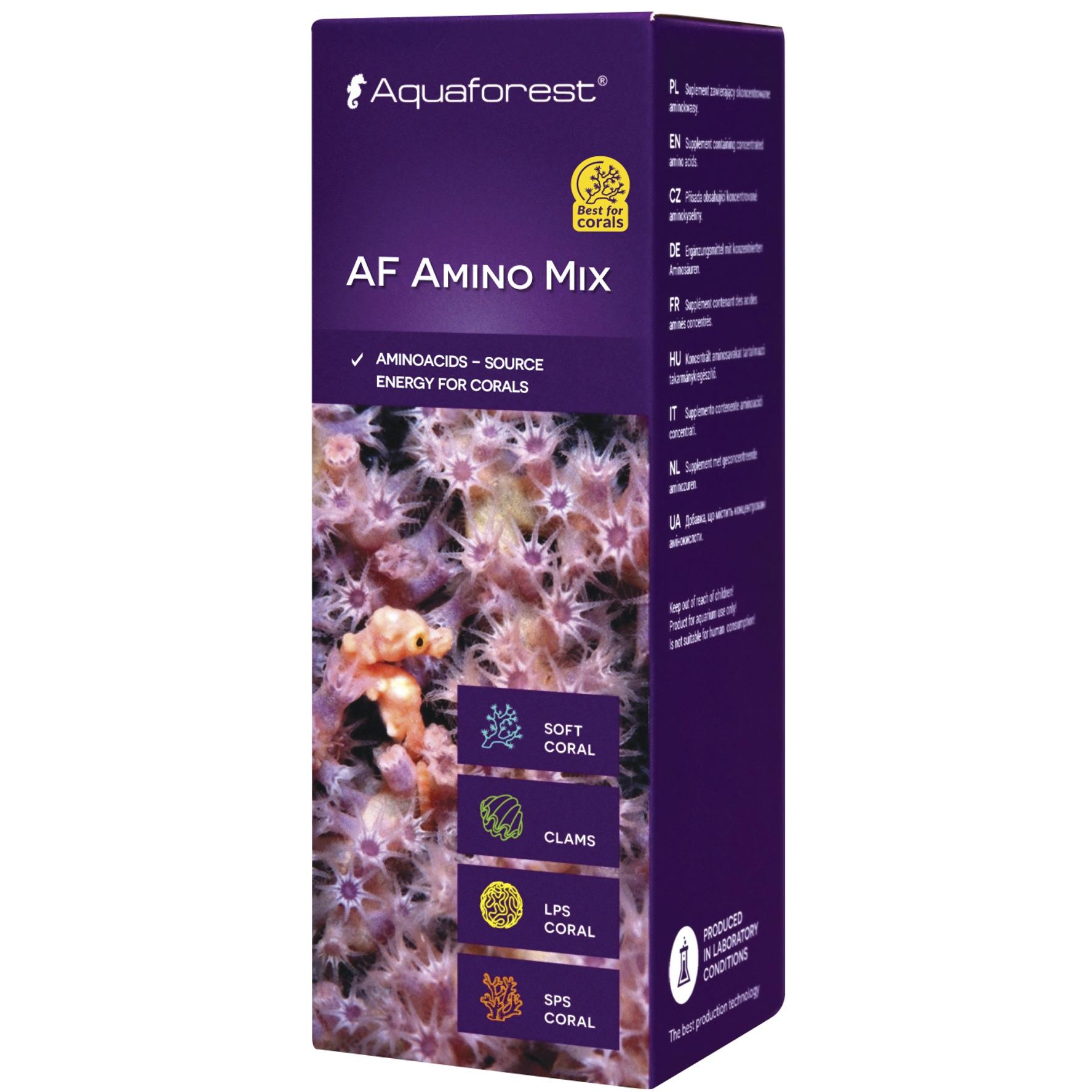 AQUAFOREST AF Amino Mix 50 ml concentré d\'acides aminés pour coraux permettant d\'augmenter leur coloration et leur résistance aux maladies