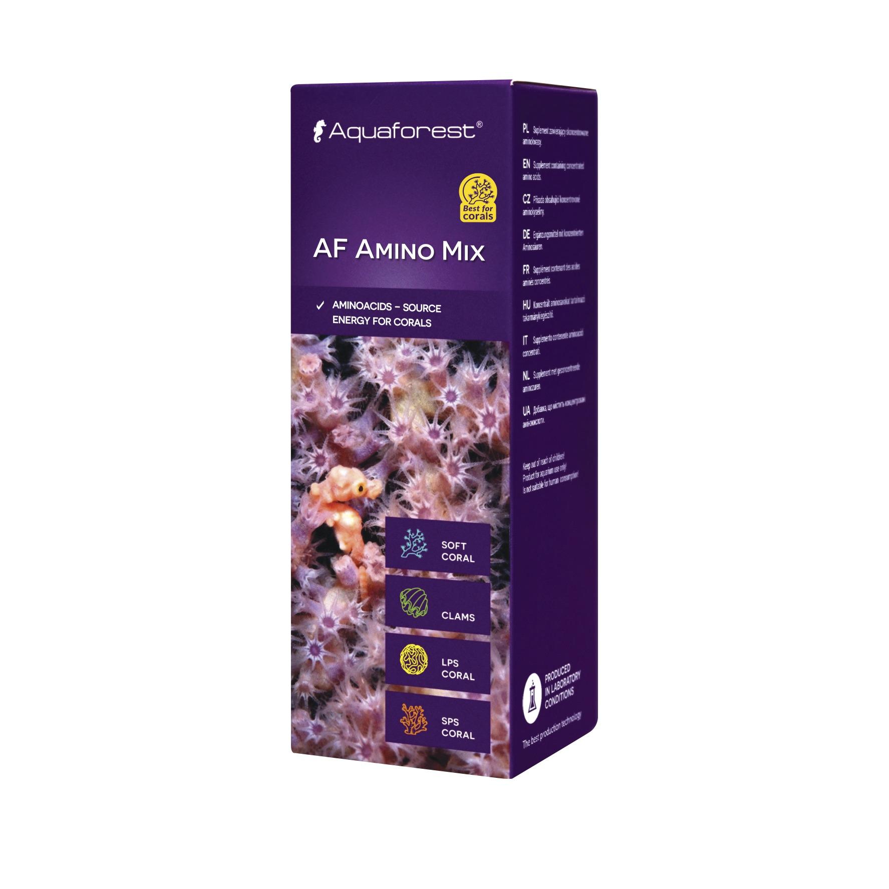 AQUAFOREST AF Amino Mix 10 ml concentré d\'acides aminés pour coraux permettant d\'augmenter leur coloration et leur résistance aux maladies