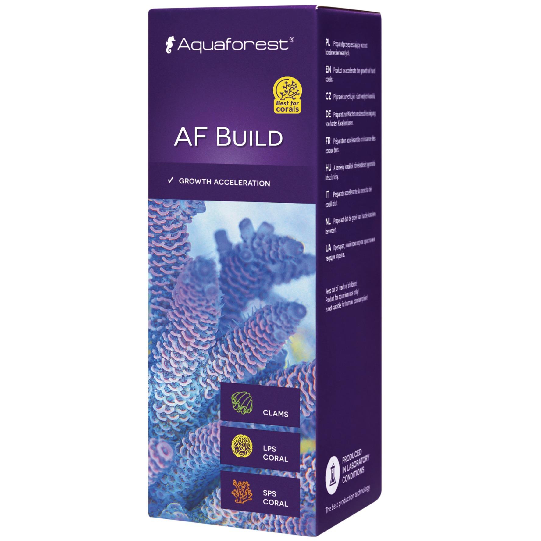 AQUAFOREST AF Build 50 ml préparation à base de iodes, carbonates, calcium, permettant d'accélérer la croissance des coraux