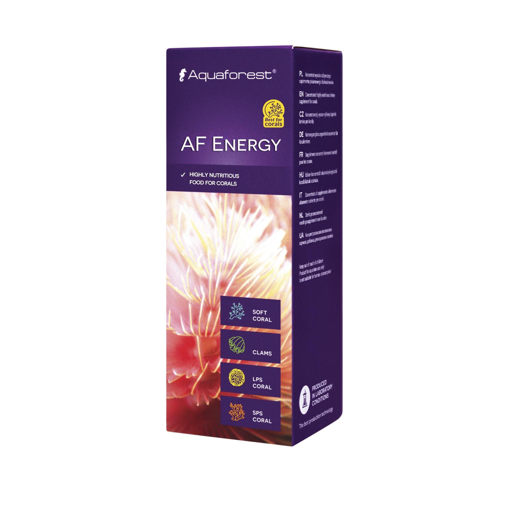 AQUAFOREST AF Energy 10 ml concentré nutritif pour l'alimentation des coraux