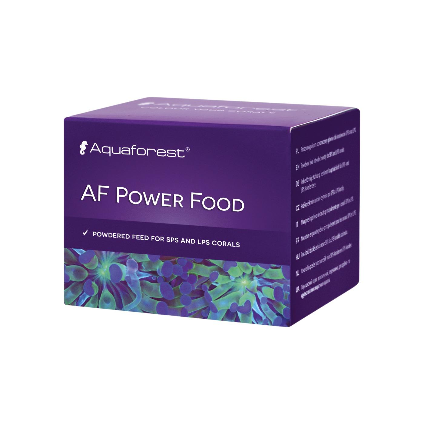 AQUAFOREST AF Power Food 20 gr nourriture en poudre destinée aux coraux durs SPS et LPS