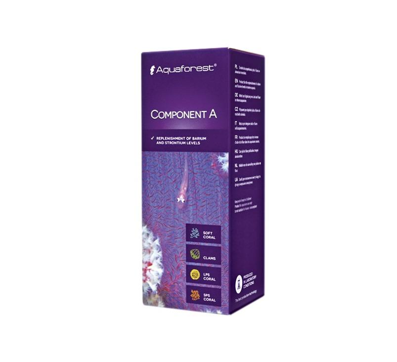 AQUAFOREST Component A 150 ml permet de rétablir un taux optimale de Strontium et de Baryum en aquarium récifal