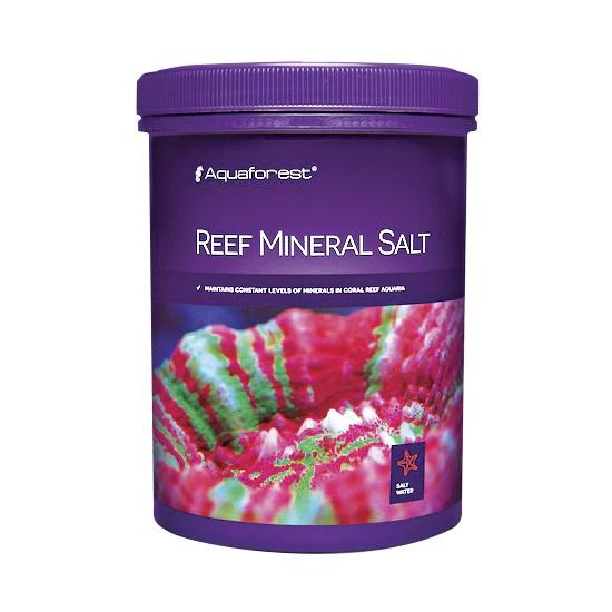 AQUAFOREST Reef Mineral Salt 800 gr permet de maintenir un niveau stable de minéraux en aquarium récifal