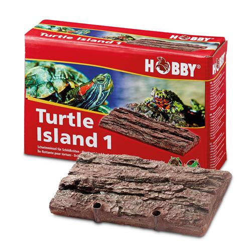 HOBBY Turtle Island 1 ile flottante imitation écorce 17,5 x 11 cm pour tortues d\'eau et animaux amphibies