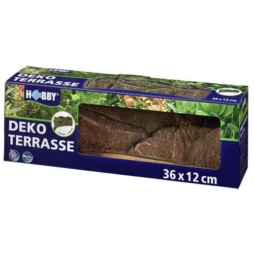 HOBBY Deko Terrasse concave 36 x 12 cm pour l\'aménagement de niveaux de terrasses en aquarium et terrarium