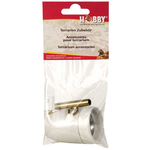 HOBBY Kit Douille E27 Céramique avec filetage en laiton pour ampoule jusqu\'à 300W