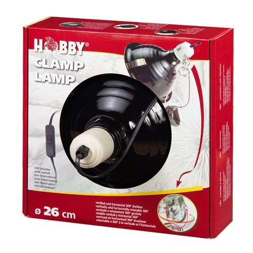 HOBBY Clamp Lamp diamètre 26 cm lampe à clip avec abat-jour et douille E27 pour ampoule jusqu\'à 250W