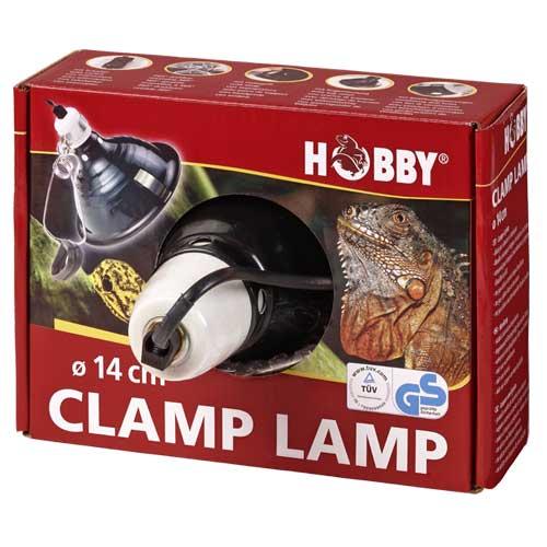 HOBBY Clamp Lamp diamètre 14 cm lampe à clip avec abat-jour et douille E27 pour ampoule jusqu\'à 60W