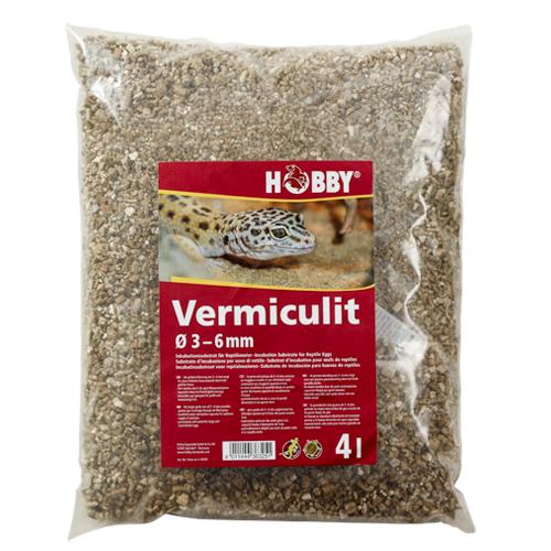 HOBBY Vermiculit 4 L granulométrie 3 à 6 mm substrat pour l\'incubation des oeufs de reptiles