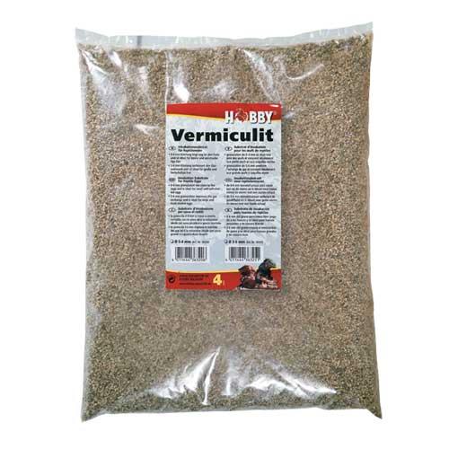 HOBBY Vermiculit 4 L granulométrie 0 à 4 mm substrat pour l\'incubation des oeufs de reptiles