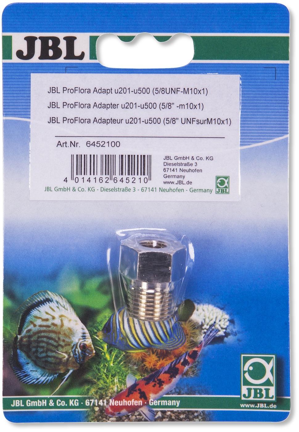 JBL Proflora Adapt u201 - u500 permet d\'utiliser une bouteille jetable 500 gr. sur un kit CO2 JBL Proflora u201