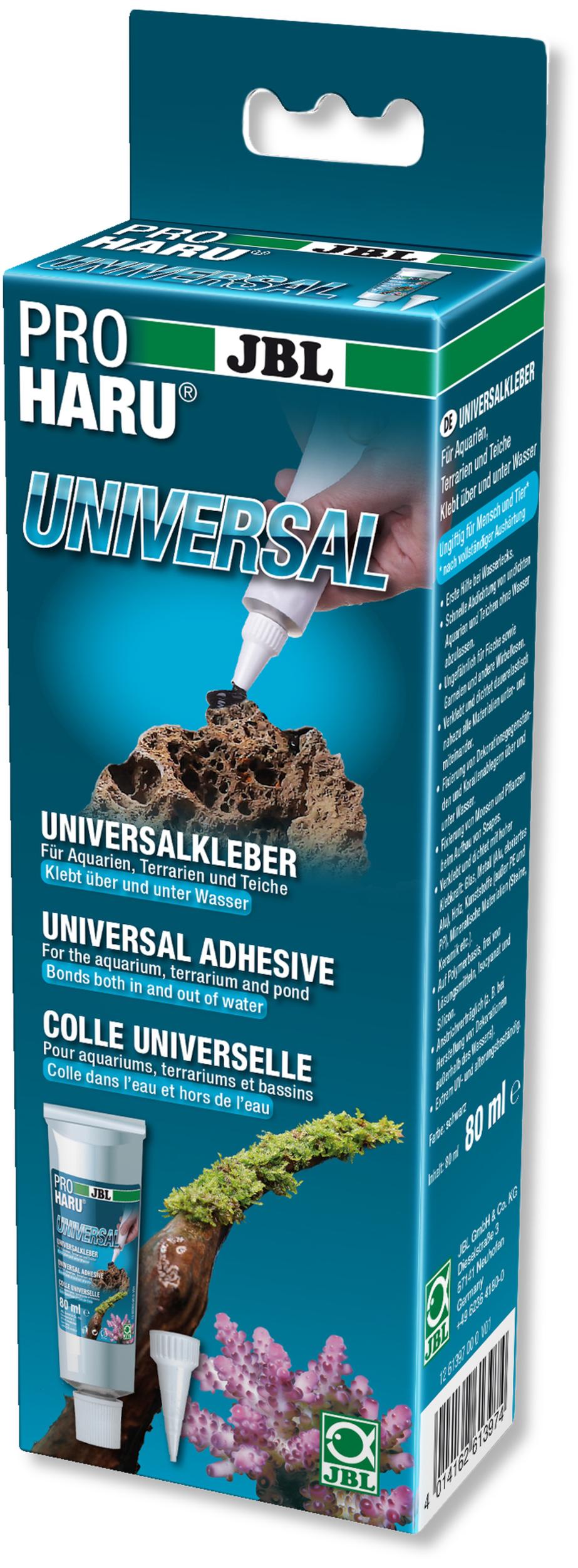 JBL ProHaru Universal 80 ml colle universelle haute adhérence pour aquarium, terrarium et bassin
