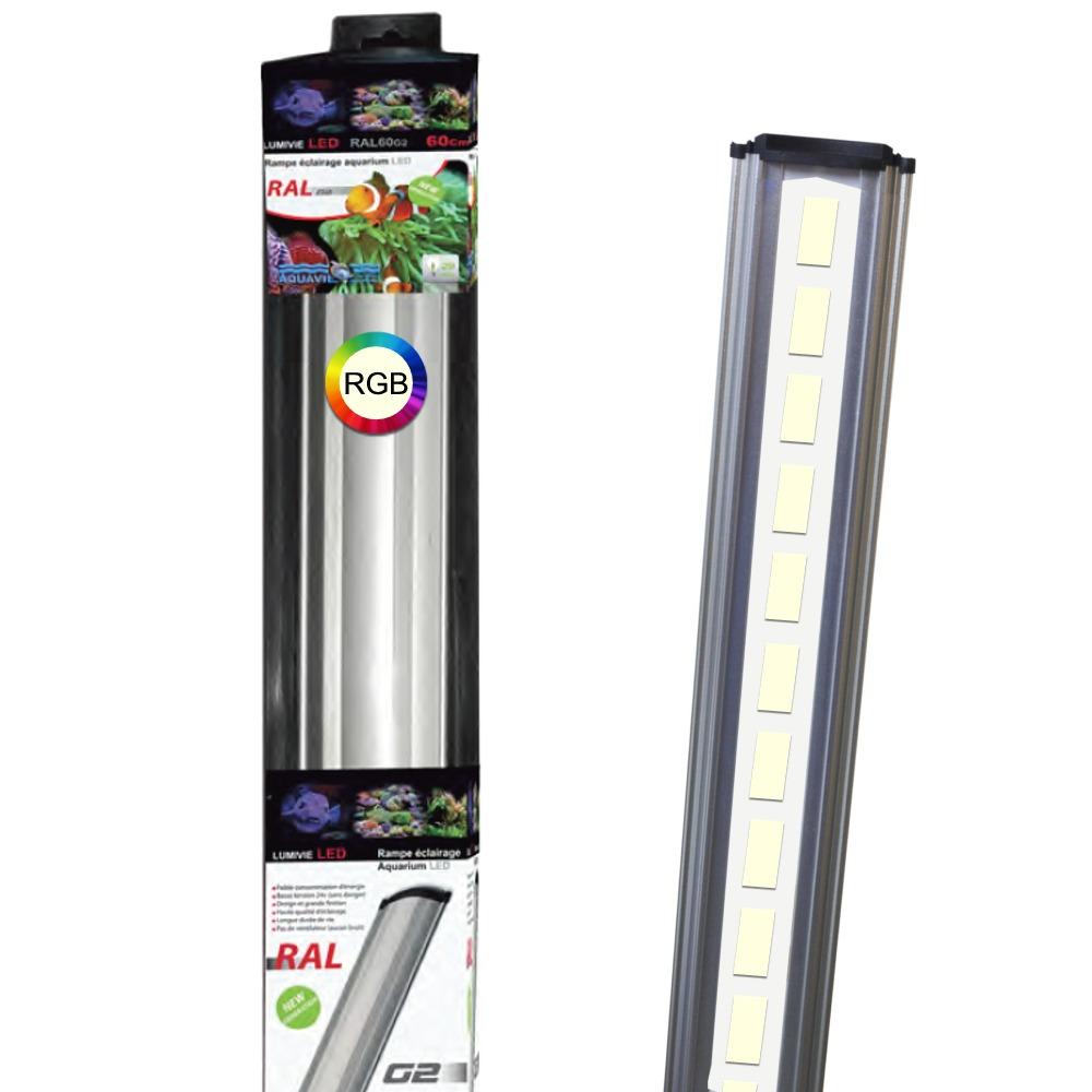 AQUAVIE Lumivie RAL G2 RGB rampes LEDs avec spectre pour aquarium d\'eau douce avec plantes. 9 longueurs au choix.