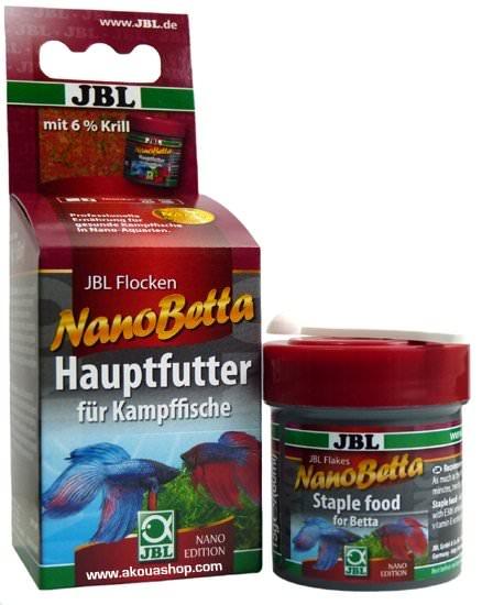 JBL - NanoGranoBetta 60 ml aliment principal en flocons pour combattants en nano-aquariums