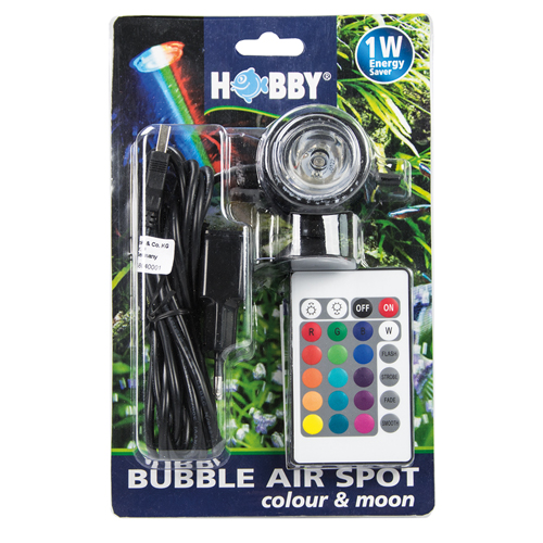 HOBBY Bubble Air Spot Color & Moon spot LED Multicolore submersible avec télécommande et diffuseur d\'air