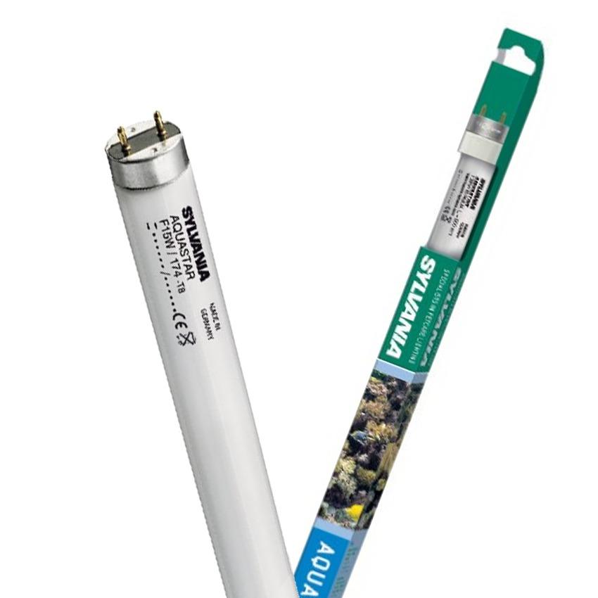 SYLVANIA Aquastar tubes T8 10000°K pour l\'éclairage d\'aquariums d\'eau douce et d\'eau de mer. 8 longueurs aux choix