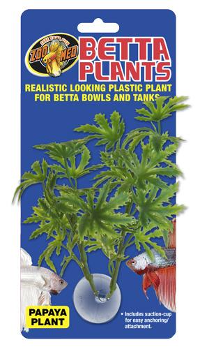 ZOOMED Betta Plant Papaya 12 cm plante artificielle pour bocal à Betta et aquarium