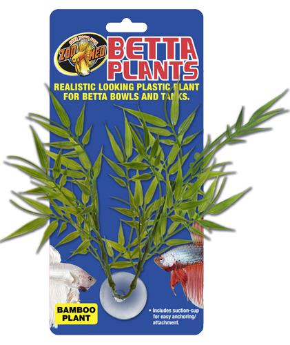 ZOOMED Betta Plant Bamboo 12 cm plante artificielle pour bocal à Betta et aquarium