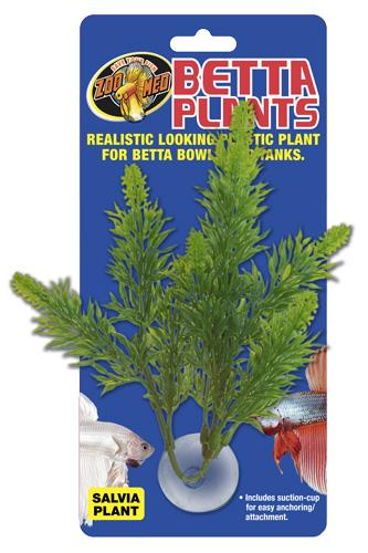 ZOOMED Betta Plant Salvia 12 cm plante artificielle pour bocal à Betta et aquarium