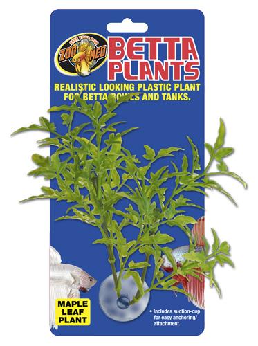 ZOOMED Betta Plant Maple Leaf 12 cm plante artificielle pour bocal à Betta et aquarium