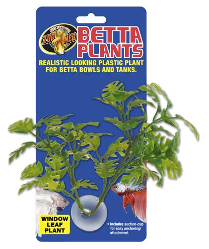ZOOMED Betta Plant Window Leaf 12 cm plante artificielle pour bocal à Betta et aquarium