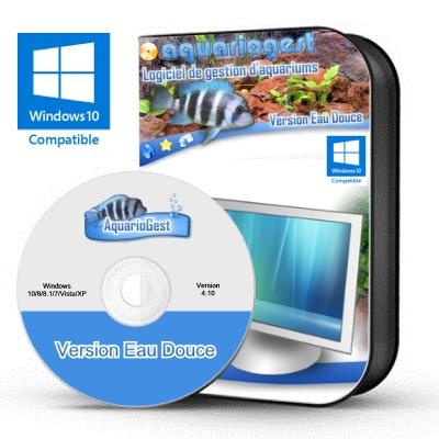 AQUARIOGEST Eau Douce version 4.10 logiciel complet de gestion d'aquariums