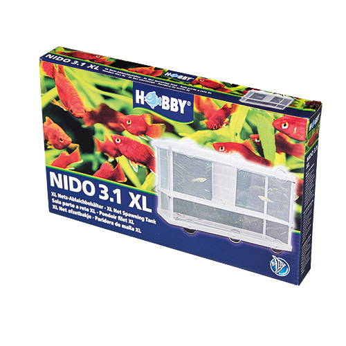 HOBBY Nido 3.1 XL pondoir filet 25 x 15 x 14,5 cm avec séparateur pour poissons
