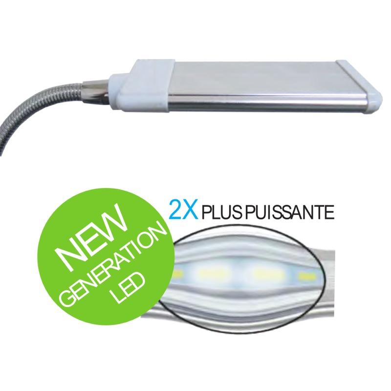 AQUAVIE Lumivie RAN03 G2 Freshwater lampe 3W à LEDs Blanches 10000°k pour l\'éclairage de nano-aquarium d\'eau douce
