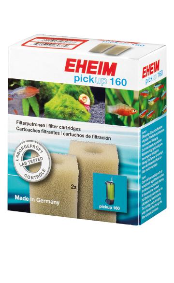 EHEIM Lot de 2 cartouches de mousse de filtration pour filtre Eheim PickUp 160 (modèle 2010)