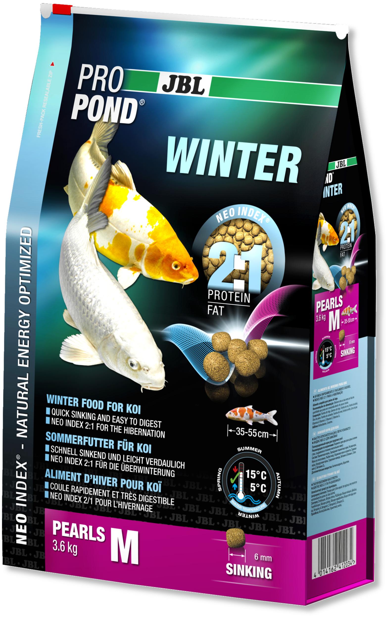 JBL ProPond Winter M 3,6 Kg nourriture granulés d\'hiver pour Koïs de 35 à 55 cm