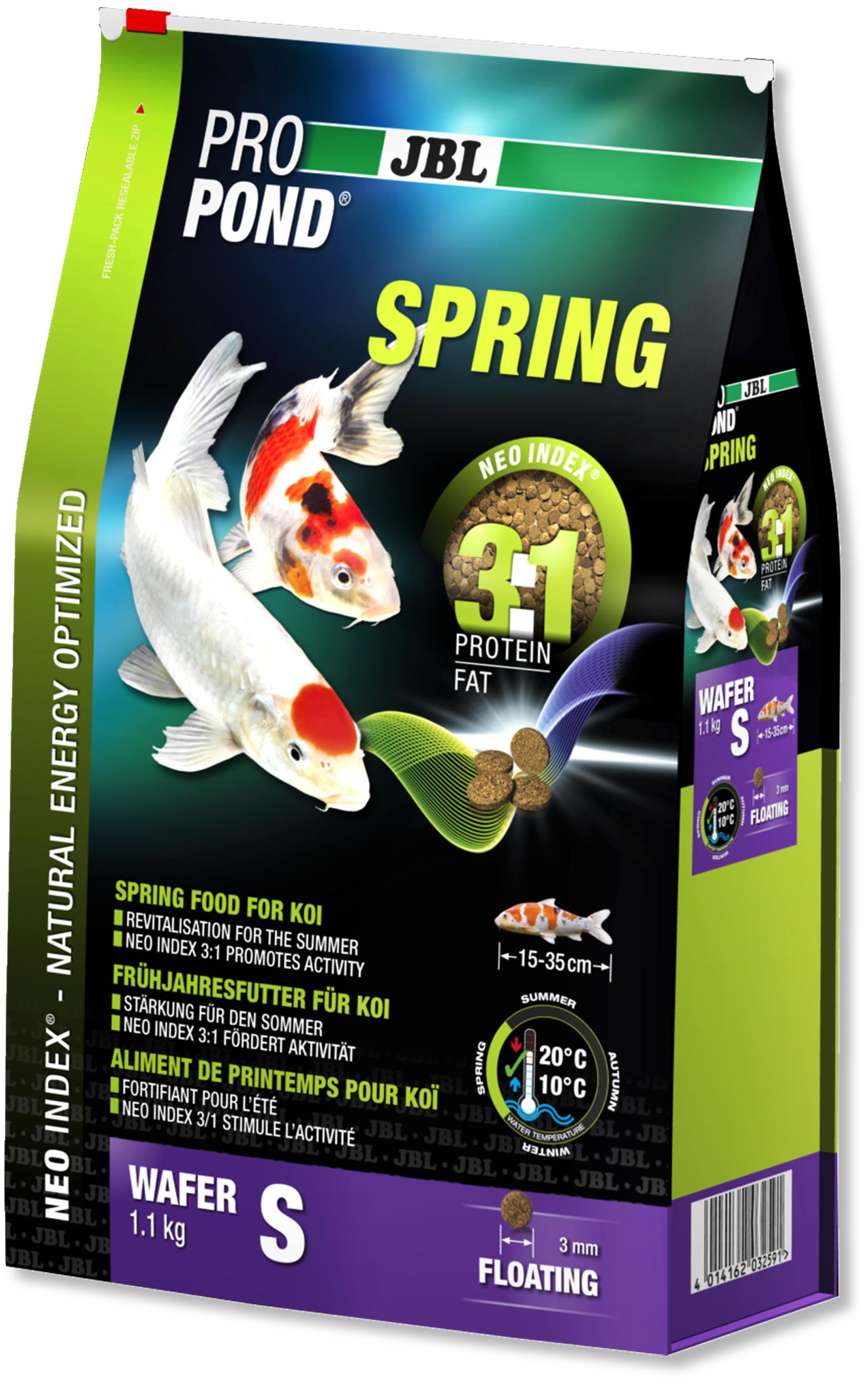 JBL ProPond Spring S 1,1 Kg nourriture granulés de printemps pour Koïs de 15 à 35 cm