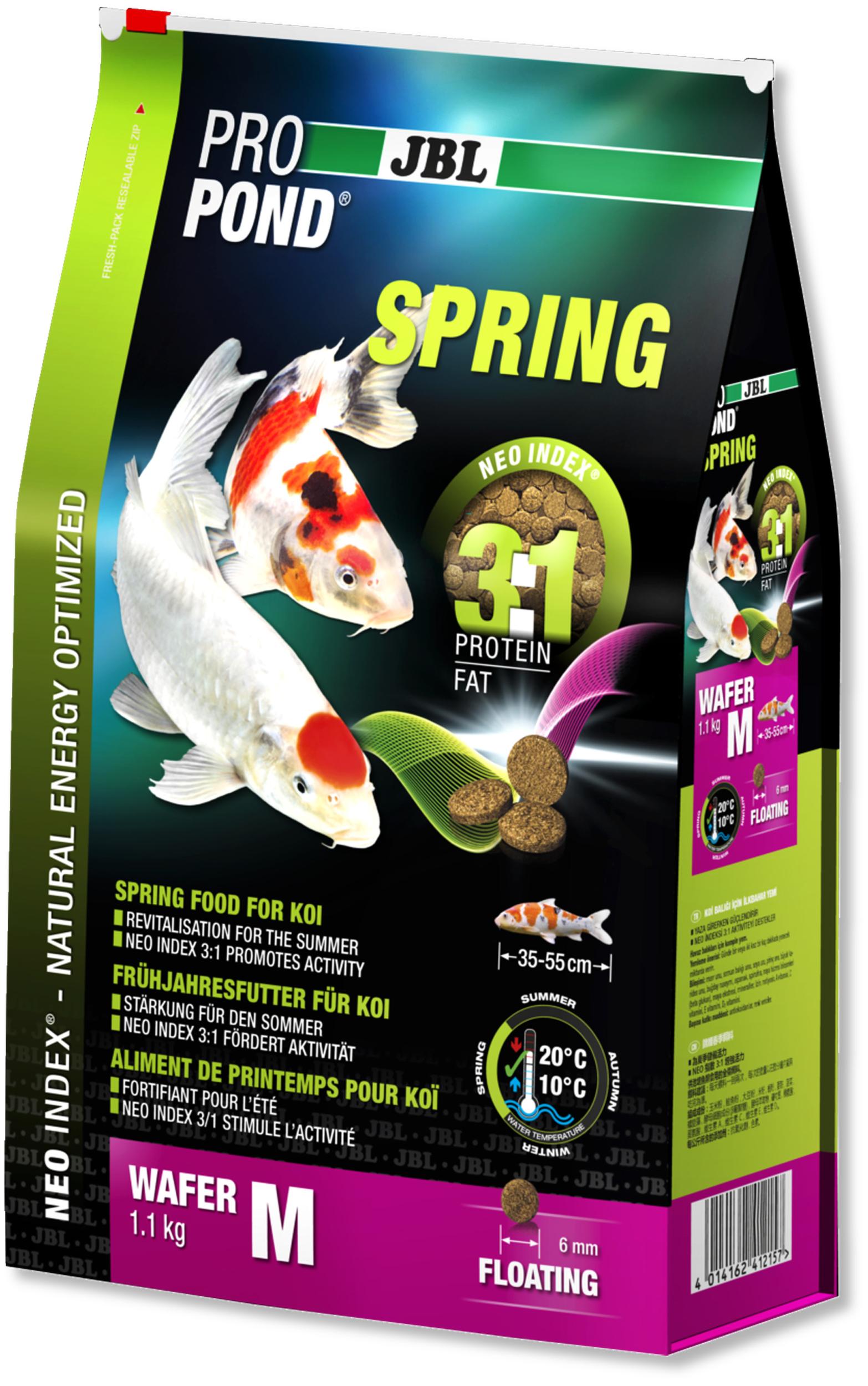 JBL ProPond Spring M 1,1 Kg nourriture granulés de printemps pour Koïs de 35 à 55 cm