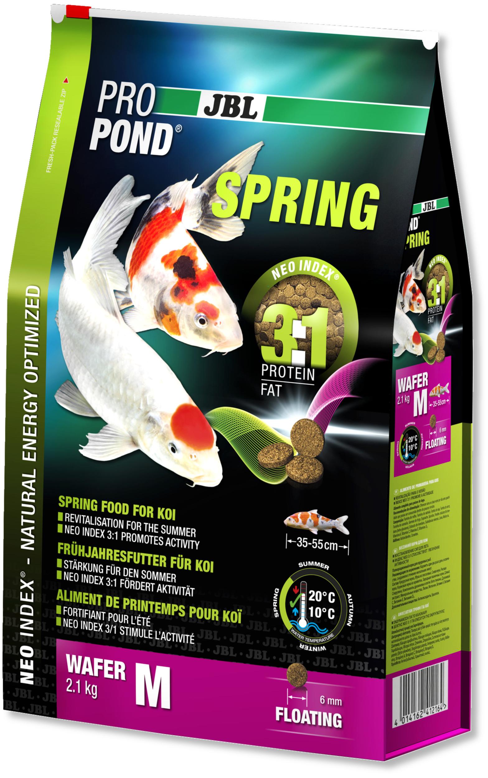 JBL ProPond Spring M 2,1 Kg nourriture granulés de printemps pour Koïs de 35 à 55 cm