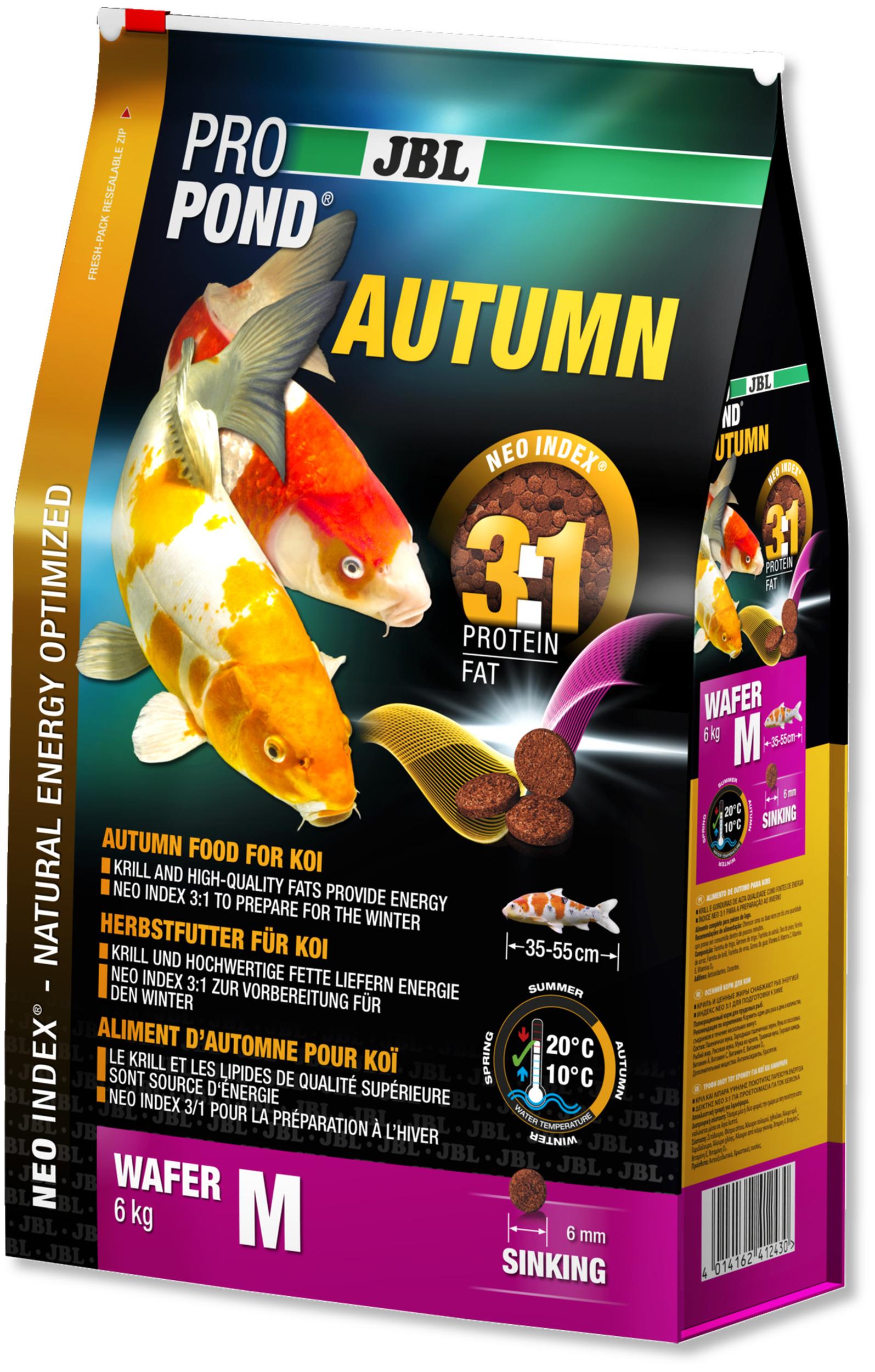 JBL ProPond Autumn M 6 Kg nourriture granulés d\'automne pour Koïs de 35 à 55 cm