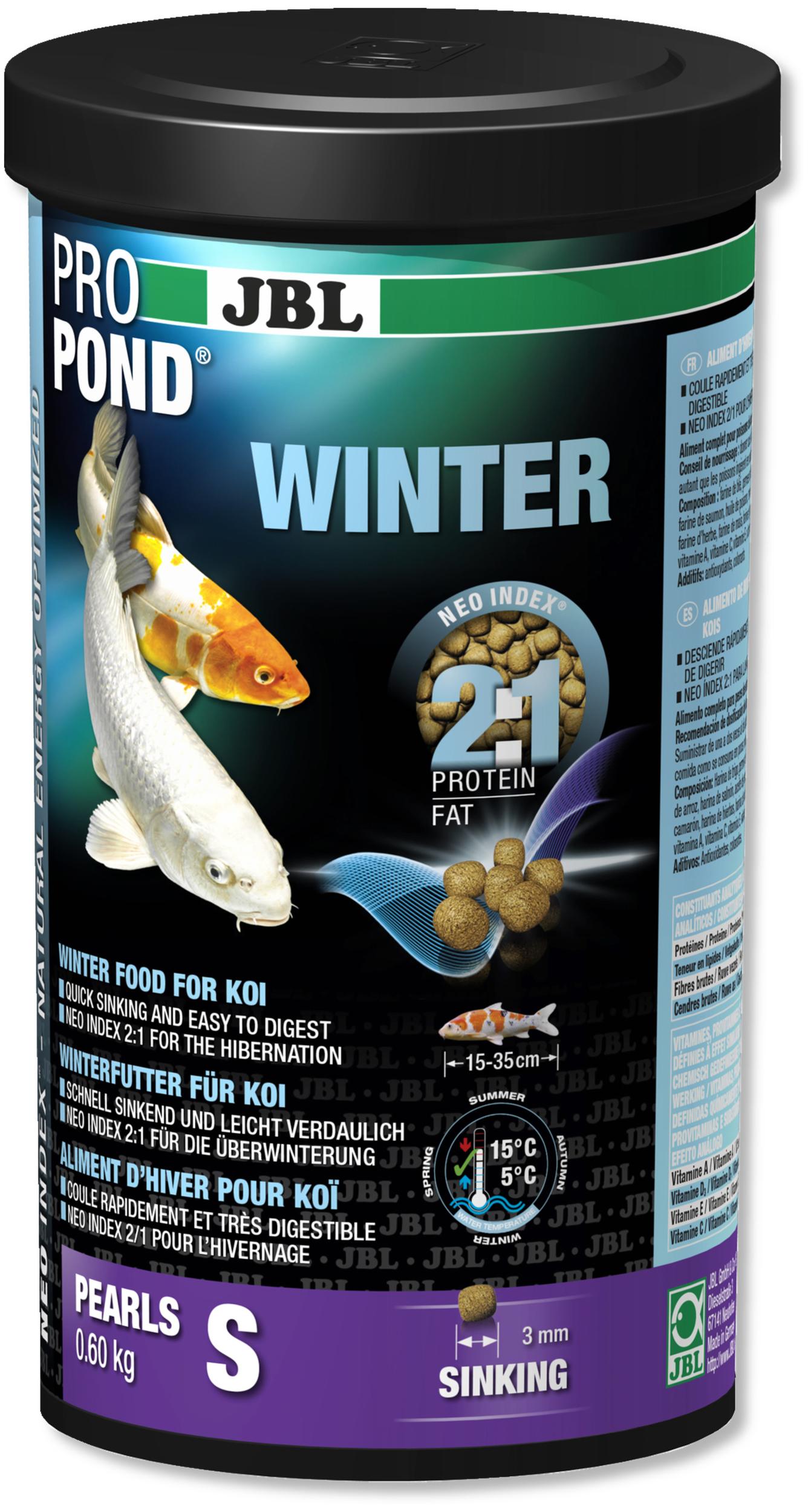 JBL ProPond Winter S 0,6 Kg nourriture granulés d\'hiver pour Koïs de 15 à 35 cm