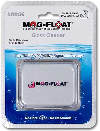 MAG FLOAT Large aimant flottant pour vitre d\'aquarium en verre jusqu\'à 16 mm d\'épaisseur