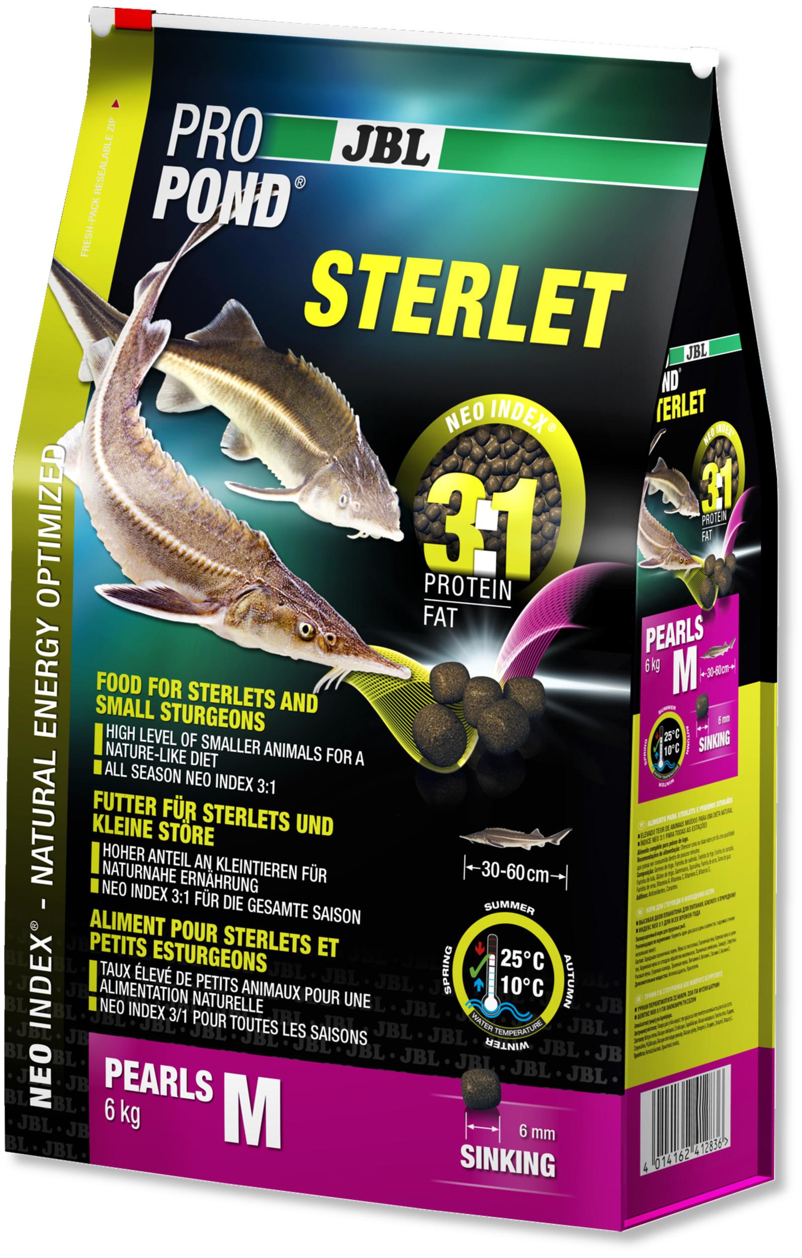 JBL ProPond Sterlet M 6 Kg nourriture complète pour Esturgeons de 30 à 60 cm