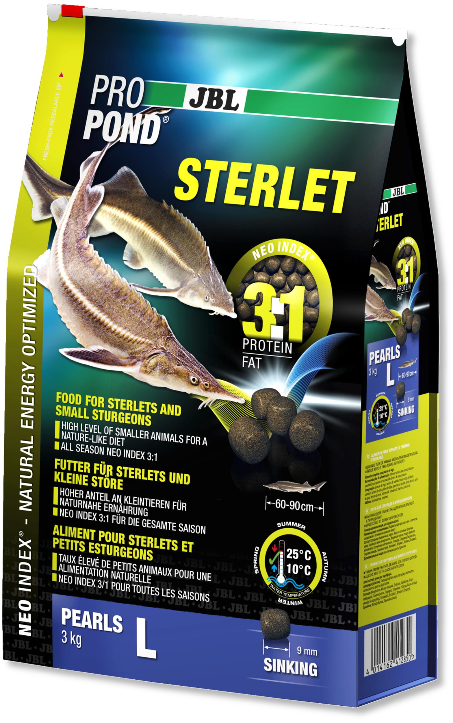 JBL ProPond Sterlet L 3 Kg nourriture complète pour Esturgeons de 60 à 90 cm