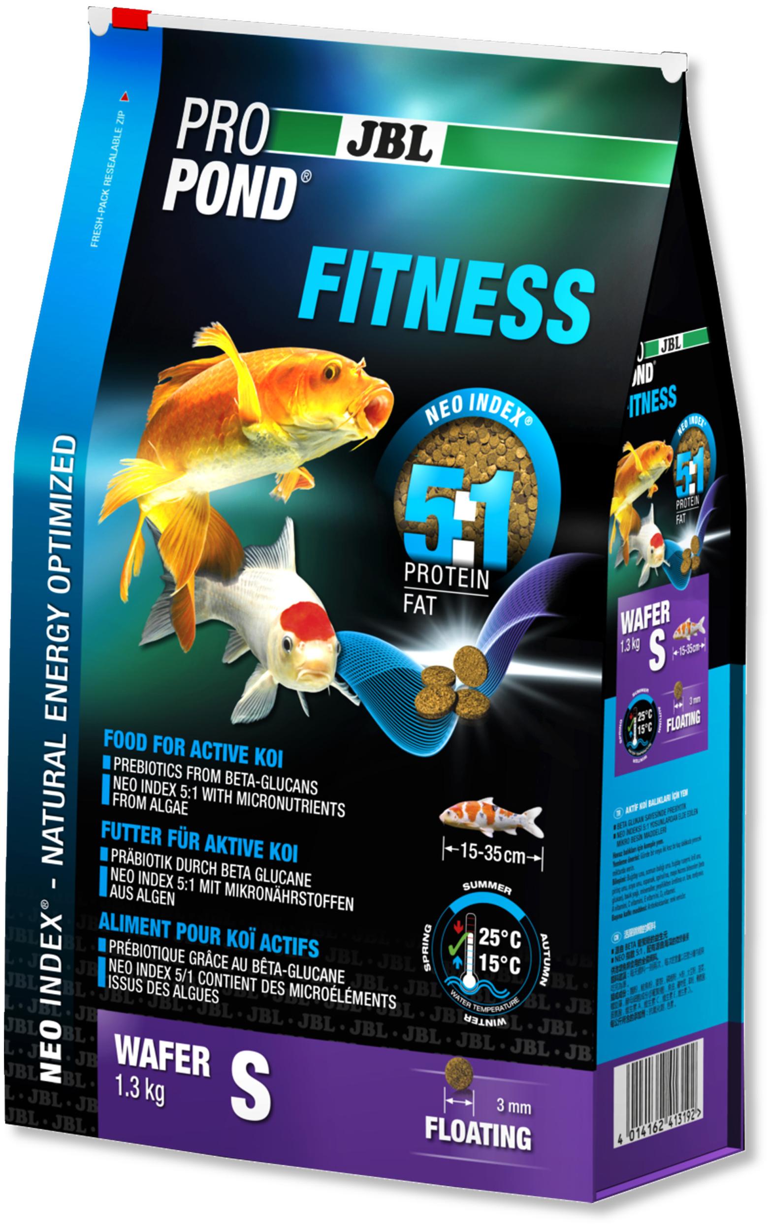 JBL ProPond Fitness S 0,42 Kg nourriture spéciale sous forme de perles pour Kois actives de 15 à 35 cm