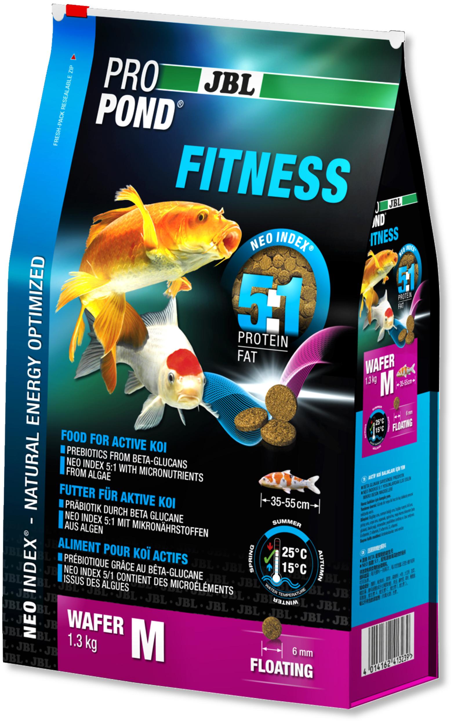 JBL ProPond Fitness M 1,3 Kg nourriture spéciale sous forme de perles pour Kois actives de 35 à 55 cm