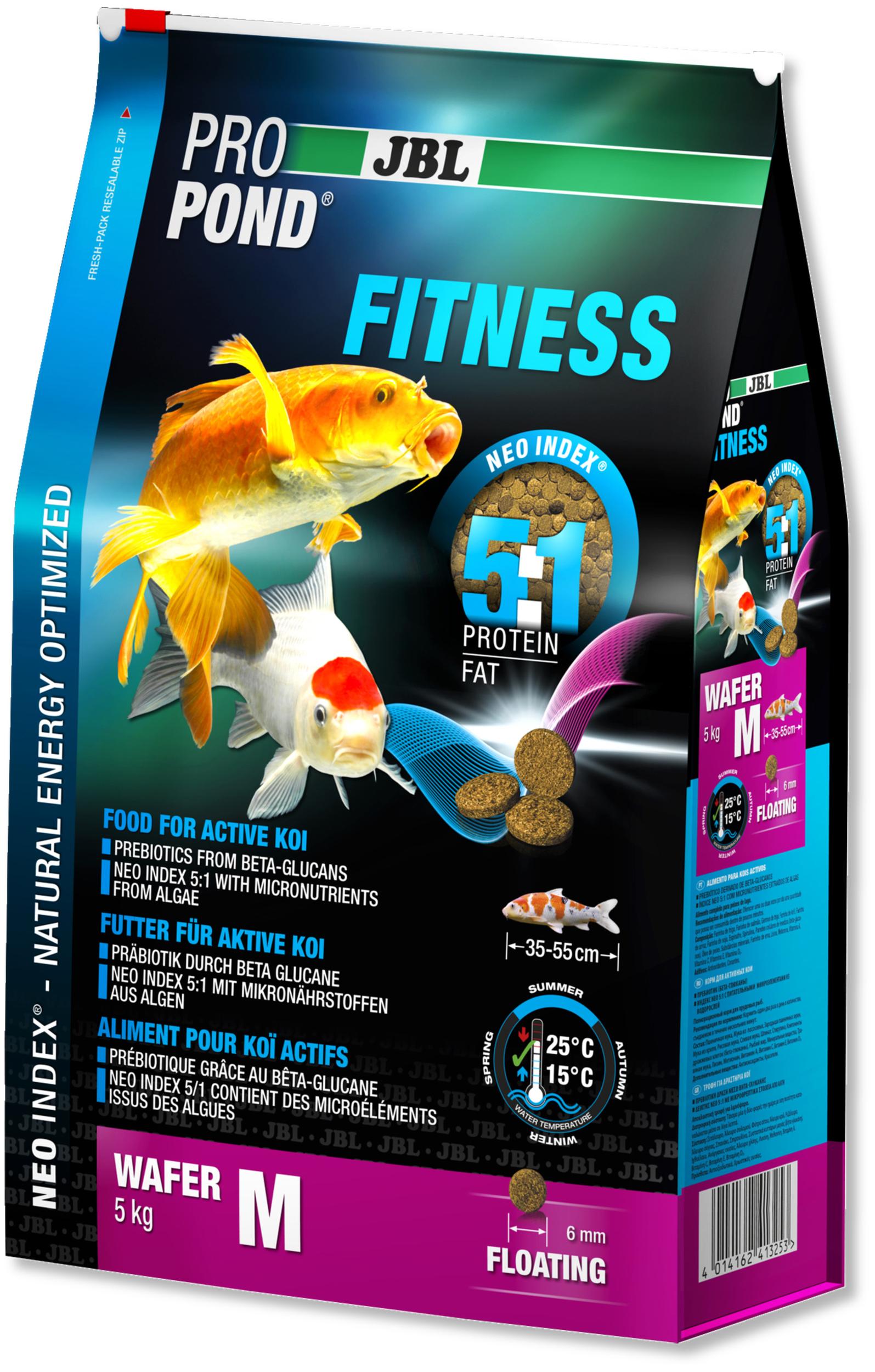 JBL ProPond Fitness M 5 Kg nourriture spéciale sous forme de perles pour Kois actives de 35 à 55 cm