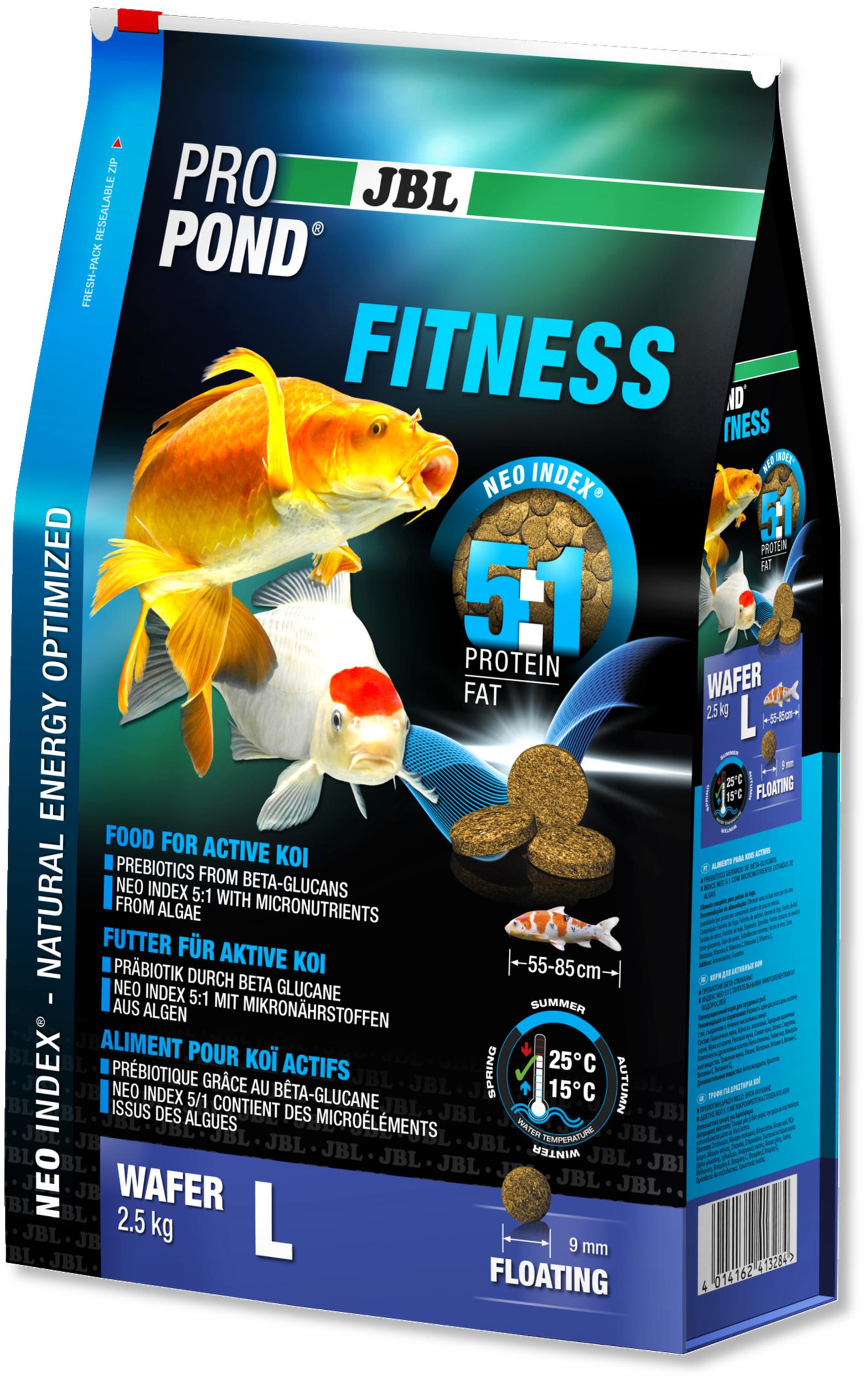 JBL ProPond Fitness L 2,5 Kg nourriture spéciale sous forme de perles pour Kois actives de 55 à 85 cm