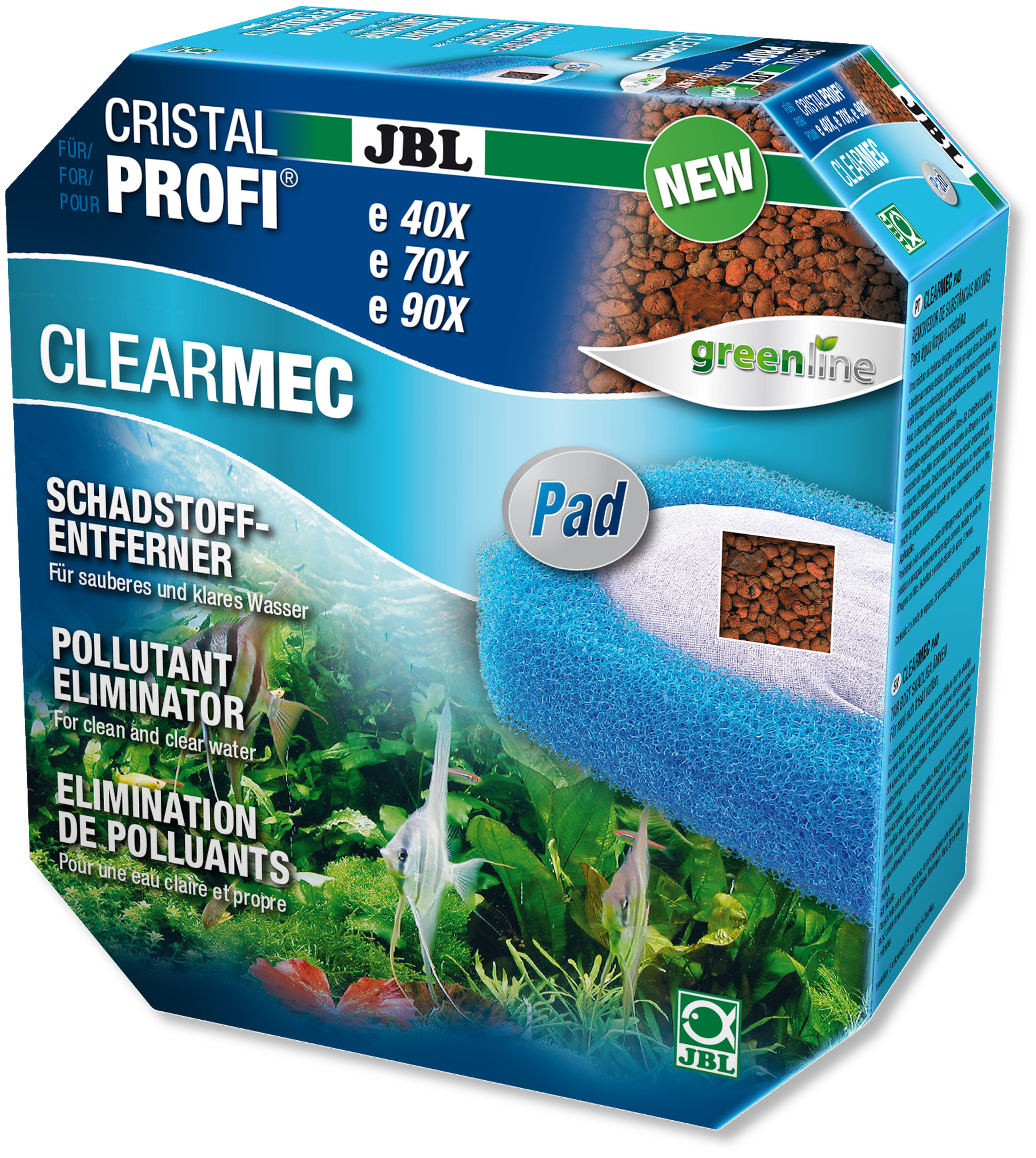 JBL ClearMec plus élimination des polluants pour filtres externes CristalProfi e700, e900, e401, e701, e901, e402, e702 et e902