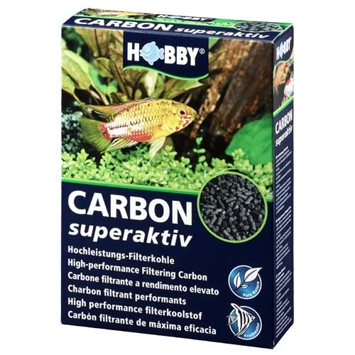 HOBBY Carbon superaktiv 500 gr. charbon actif puissant pour la purification de l\'eau de l\'aquarium