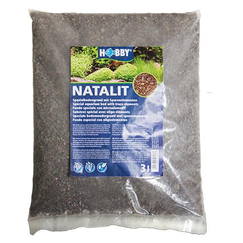HOBBY Natalit 3 L substrat naturel de Lave pour améliorer l\'enracinement des plantes d\'aquarium