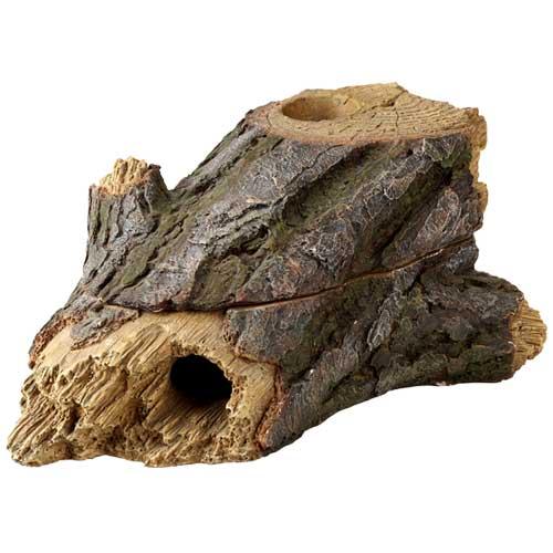HOBBY Wood Cave 2 dimension 24,5 x 13,5 x 9 cm cachette d\'aspect natuelle pour reptile