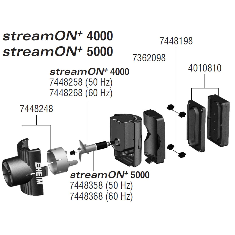 EHEIM Pièces détachées pour pompe de brassage StreamON+ 4000 et 5000 (1081 / 1082)